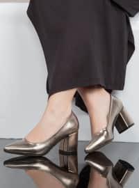 Topuklu Ayakkabı - Platin - Ayakkabı Havuzu