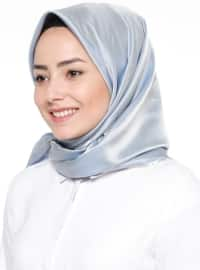Blue - Beige - Plain - Scarf