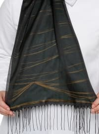 Gold - Khaki - Striped - Shawl