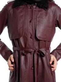 Point Collar - Fully Lined - Maroon - Topcoat