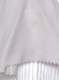 Gray - Silver tone - Plain - Shawl