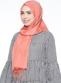 Plain - Orange - Shawl