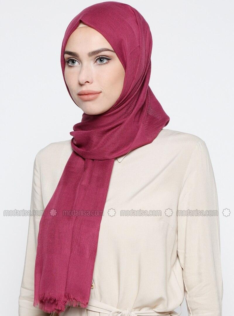 Pink - Purple - Plain - Shawl