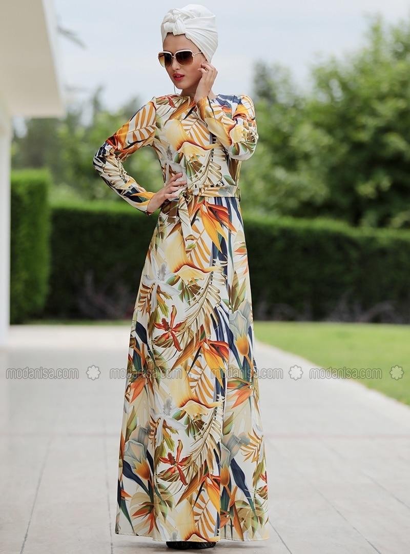 Kleid gelb bunt