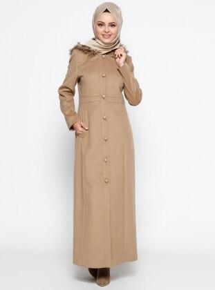 Kaşe Manto - Camel Nihan