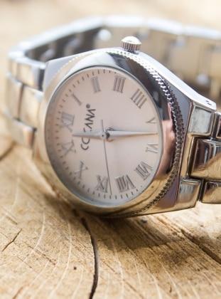 Metal Saat - Gümüş Cocana