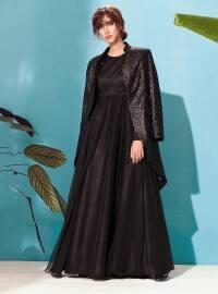 Kuaybe Gider Alba Abiye Elbise - Siyah - Kuaybe Gider