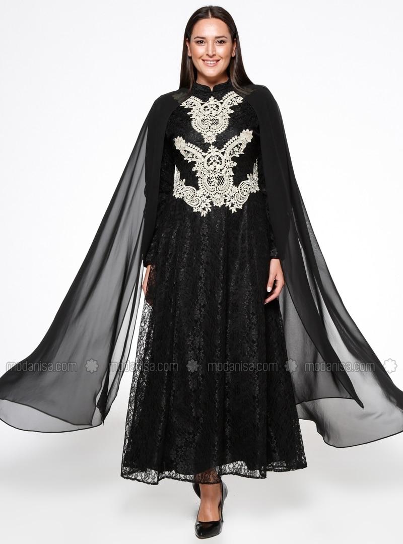 Siyah Dantelli Abiye Modelleri