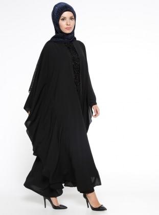 61cf0d62427ca Black - Unlined - Crew neck - Abaya