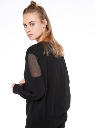 File Detaylı Bluz - Siyah - Koton Ürün Resmi