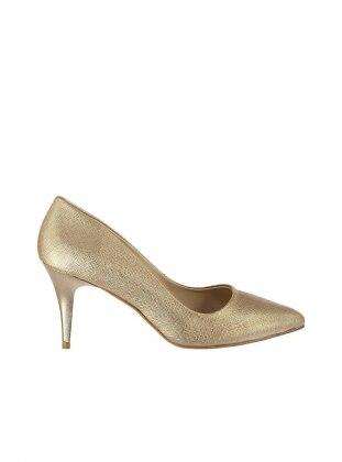 topuklu ayakkabı - bakır - pembe potin