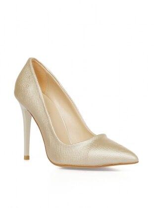 topuklu ayakkabı - lame - pembe potin