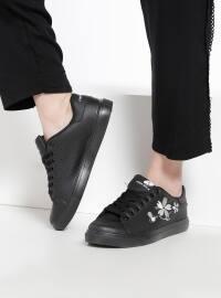Ayakkabı - Siyah - Pembe Potin
