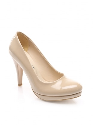 platform ayakkabı - bej - shoes&moda