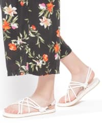 Sandalet - Beyaz - SHOES&MODA