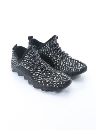 ayakkabı - siyah beyaz - b.f.g polo style