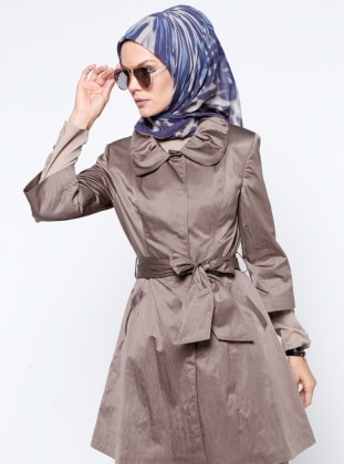 Fully Lined - Round Collar - Trench Coat