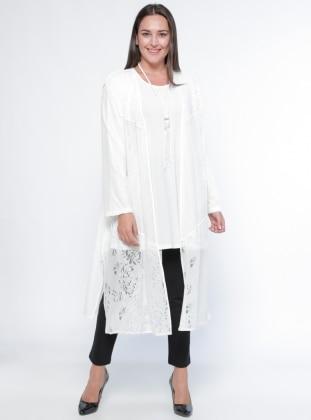 White Plus Size Vests Shop Womens Plus Size Vests Modanisa