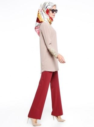 Klasik Pantolon - Bordo - Fashion Box London Ürün Resmi