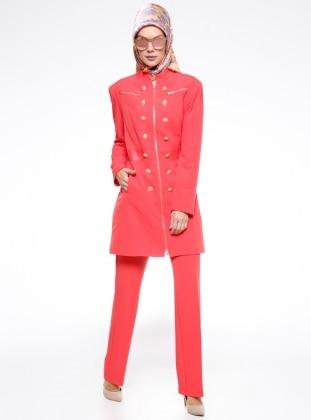 Klasik Pantolon - Nar Çiçeği Fashion Box London