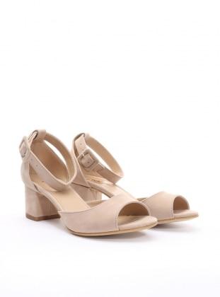 topuklu ayakkabı - bej - pnk