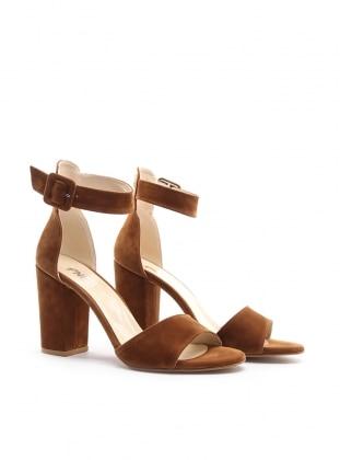 topuklu ayakkabı - taba - pnk