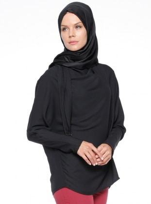Black - Polo neck - Blouses
