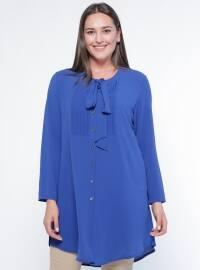 Saxe - Button Collar - Plus Size Tunic