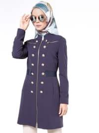 Fermuarlı Kap - Lacivert - Fashion Box London