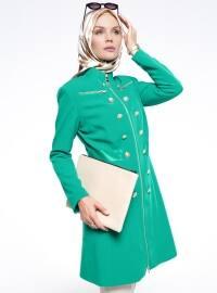 Fermuarlı Kap - Yeşil - Fashion Box London