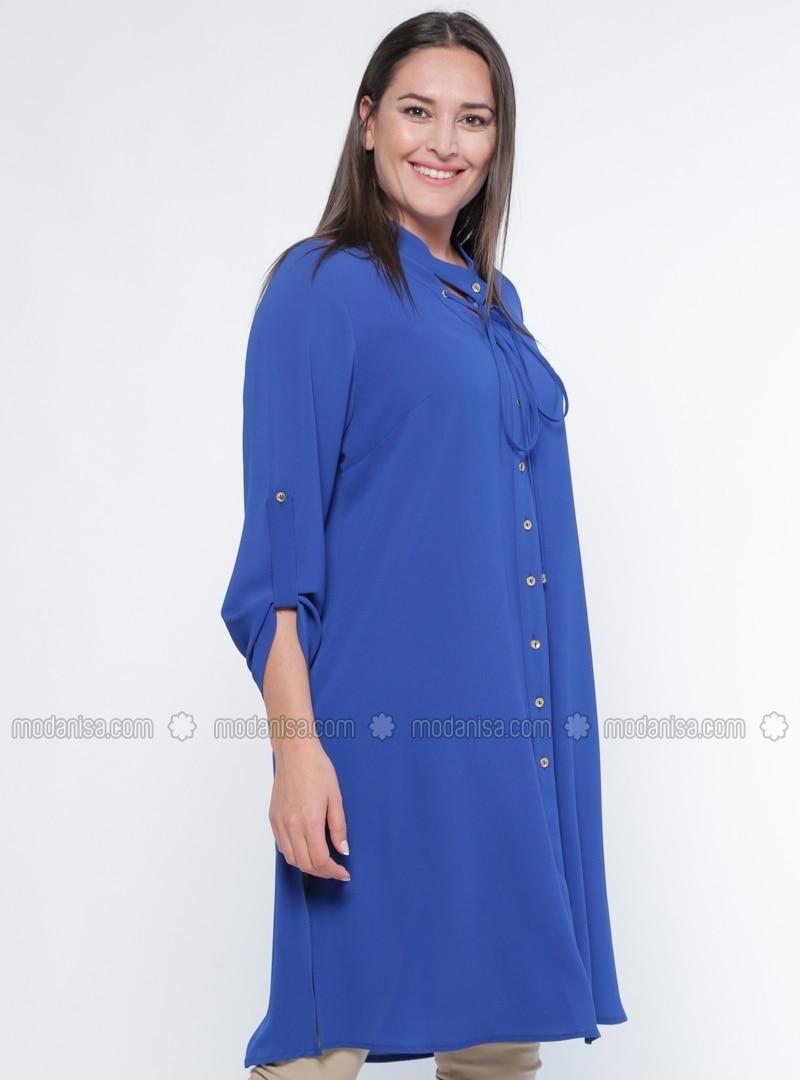 Saxe - V neck Collar - Plus Size Tunic