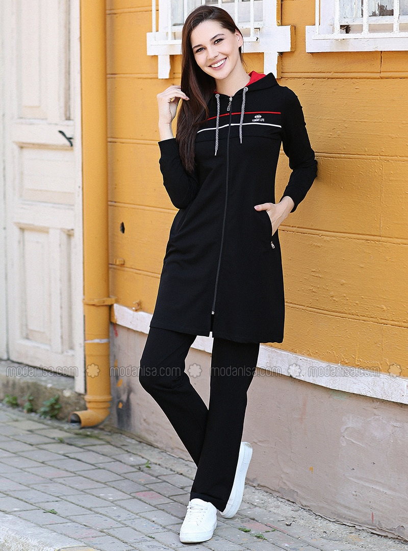 Black - Tracksuit Set