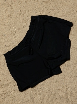 Deniz Şortu - Siyah Angelsin