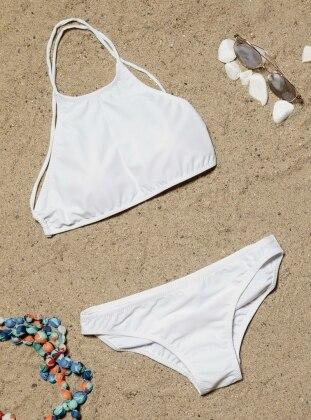 Tankini Bikini Takımı - Beyaz Angelsin