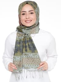 Ethnic - Khaki - Multi - Shawl