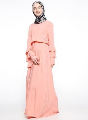 Lachsfarbe kleid