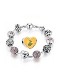 Mevlana Özel Tasarım Gümüş Charm Bileklik - Karışık Renkli - Angemiel