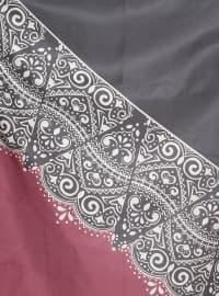 Printed - Maroon - Black - Scarf - Renkli Butik
