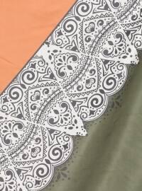 Orange - Khaki - Printed - Scarf - Renkli Butik