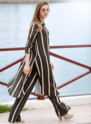 Green - Black - Stripe - Pants