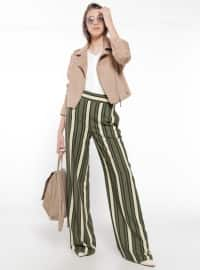 Green - Black - Stripe - Pants