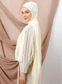 Ecru - Striped - Shawl