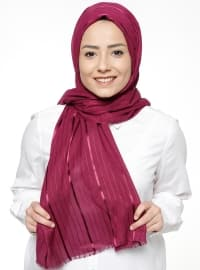 Purple - Striped - Shawl