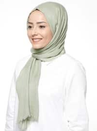 Düz Renkli Şal - Fıstık Yeşili - ŞALESS