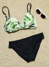 Desenli Bikini - Yeşil - ESTİVA