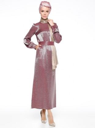 Cep Detaylı Abiye Elbise - Bordo Mustafa Dikmen