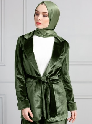 Fully Lined - Green - Jacket - Refka