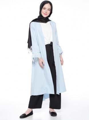 Kol Detaylı Kap - Mavi Modesty