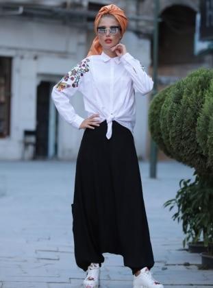 Pantolon Etek - Siyah Selma Sarı Design