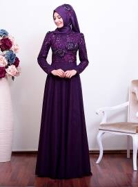 Ecrin Abiye Elbise - Mor - An-Nahar